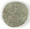 Halfcrown of Charles I - Counterfeit (YORYM-1995.109.38) reverse.jpg