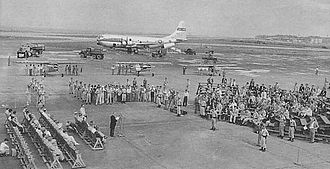 Haneda Airport - U.S. Air Force C-97 Stratofreighter at Haneda Army Air Base in 1952