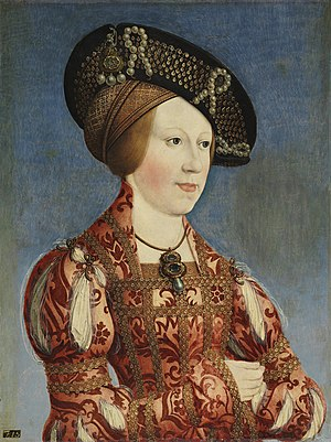 Anne of Bohemia and Hungary - Portrait by Hans Maler, c. 1519