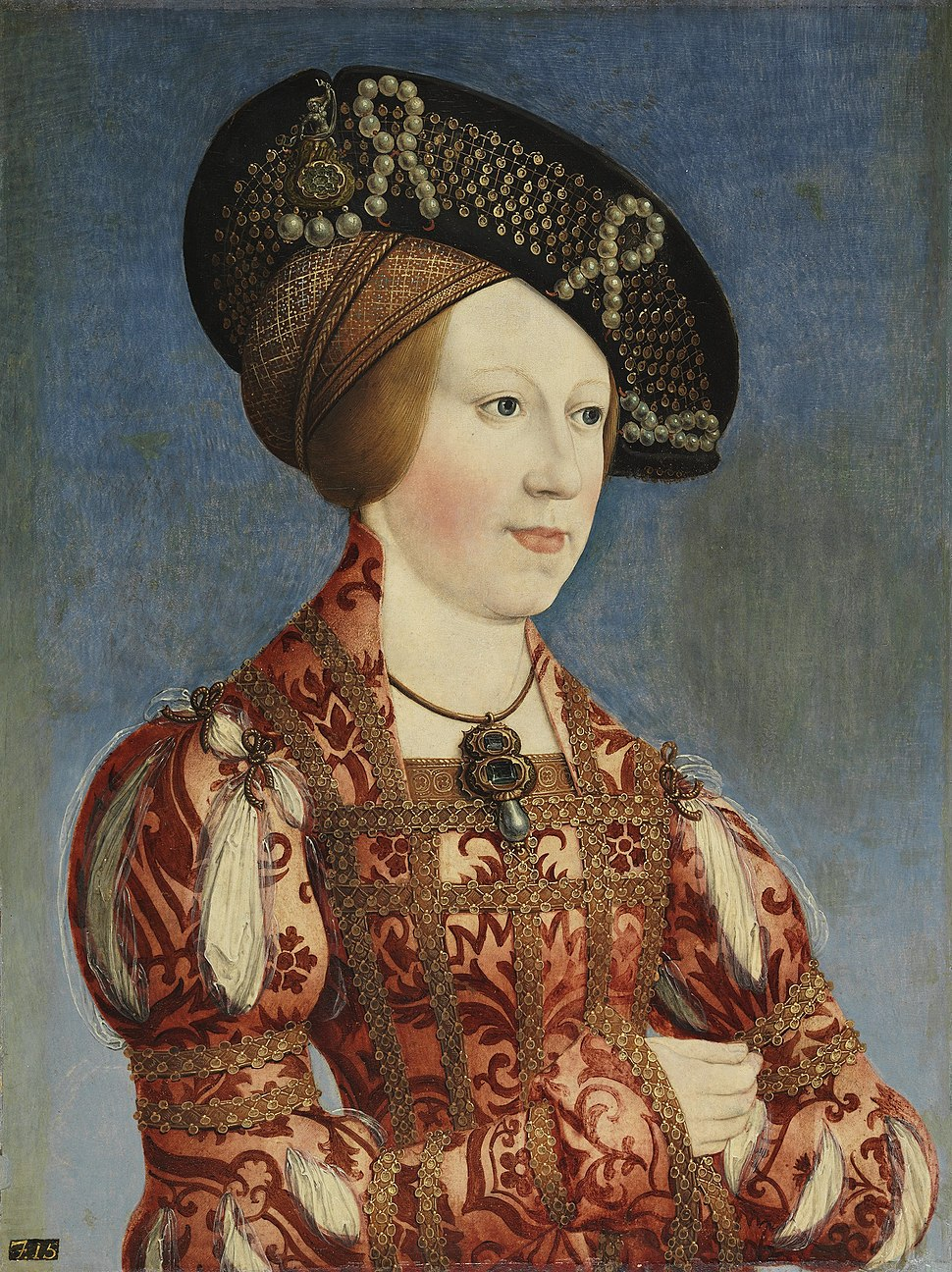 Hans Maler - Queen Anne of Hungary and Bohemia - WGA13895