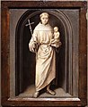 Hans memling, madonna col bambino e sant'antonio da padova, 1485-90 ca. 04.jpg