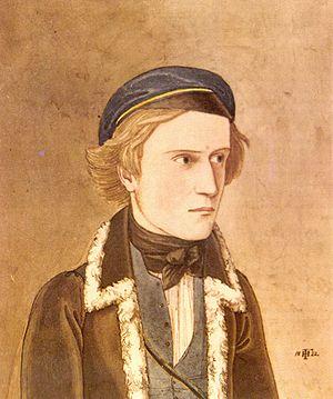 Hans von und zu Aufseß - Von Aufseß as a student at Erlangen in 1822, by Friedrich Hoffstadt (1802–1846)