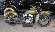 Harley-Davidson WL (1947) teknisk identisk med krigsmodellen med en 739 cm³-motor