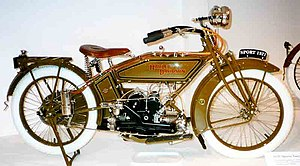 Stressed member engine - Harley-Davidson Model W with structural tubes bolted directly to engine case to complete the frame triangle