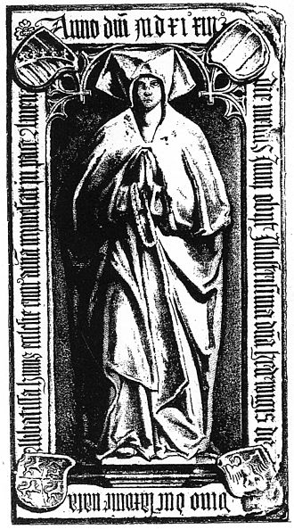 Hedwig, Abbess of Quedlinburg - Tombstone of Princess-Abbess Hedwig