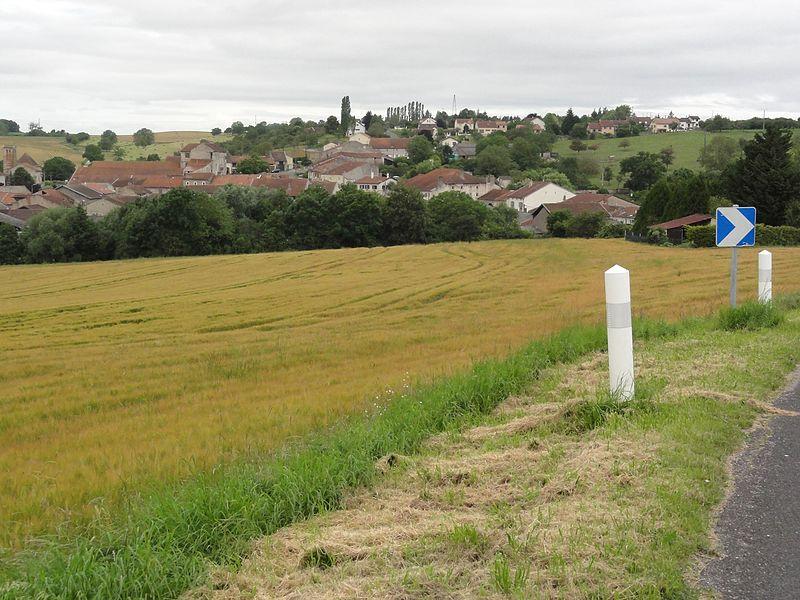 Haussonville (M-et-M) vue du village