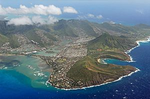 Hawaii Kai, Hawaii - Aerial view of Hawaii Kai and Koko Head
