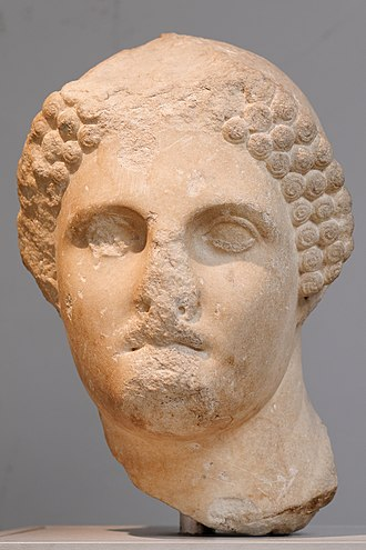 Ada of Caria - Portrait of a young woman from the Mausoleum at Halicarnassus, sometimes identified as Ada. British Museum.