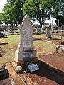 Headstone, Drayton and Toowoomba Cemetery, 2003.JPG