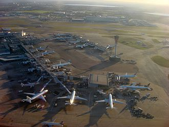 Heathrow Airport - Terminal 3 bird's-eye view