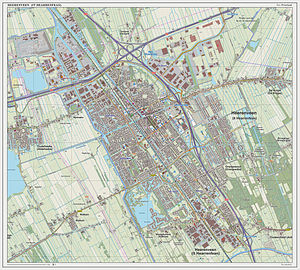 Heerenveen - Topographic map of Heerenveen, March 2014