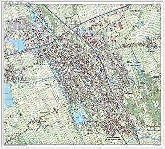 Heerenveen - Topographic map of Heerenveen, March 2014