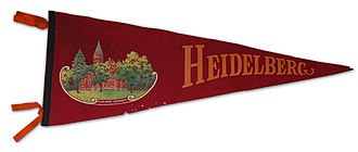 Heidelberg University (Ohio) - 1920s felt school pennant