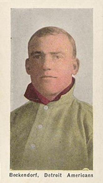 Heinie Beckendorf - 1910 Sporting Life baseball card