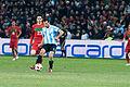 Helder Postiga (L), Javier Mascherano (R) – Portugal vs. Argentina, 9th February 2011 (1).jpg