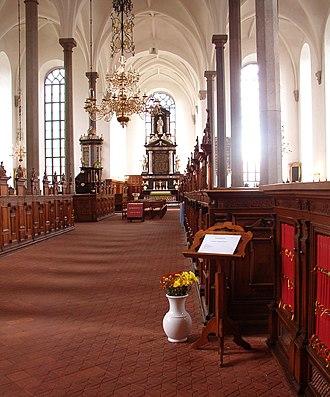 Trinity Church, Kristianstad - Image: Heliga Trefaldighetskyrkan interiör 1