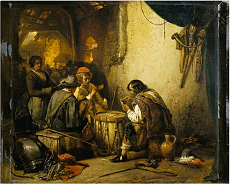 Jan August Hendrik Leys - Soldiers playing cards