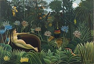 Paysage coloré aux oiseaux aquatiques - Image: Henri Rousseau 005