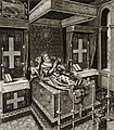 Henry IV of France as he lay in state after his murder in the year 1610, engraving after Quesnel - Gallica 2010 (adjusted).jpg