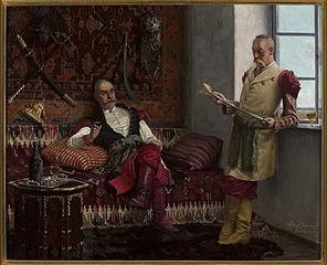 Scena szlachecka - Historia jataganu