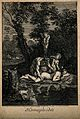 Hermaphroditus asleep by a woodland lake, admired by a satyr Wellcome V0007452.jpg