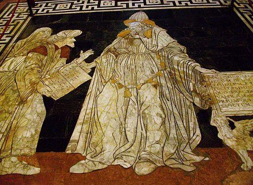 Hermes Trismegist, Sòl de la catedral de Siena