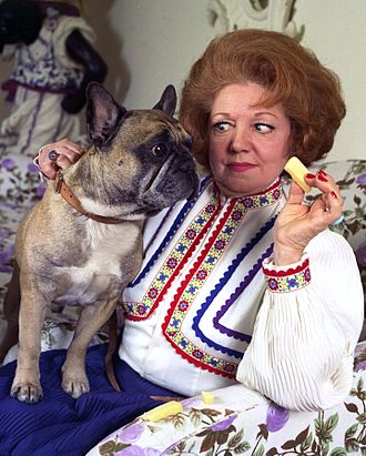 Broseley - Hermione Baddeley, seen in the 1970s