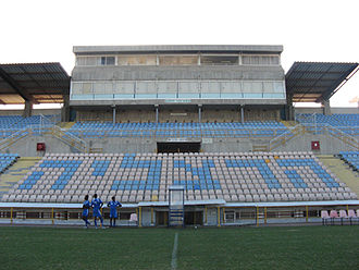 Rugby union in Israel - Herzliya Municipal Stadium which is used to host international rugby, particularly during the Maccabiah Games