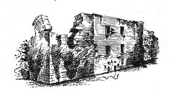 Alexander Montgomerie - Hessilhead Castle, Ayrshire, in a drawing of 1887.