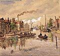 Het Galgewater met pontveer rond 1916 - Jan Elias Kikkert.jpg