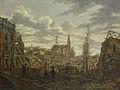 Het Rapenburg te Leiden drie dagen na de ontploffing van het kruitschip op 12 januari 1807 Rijksmuseum SK-A-2504.jpeg