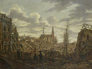 The Rapenburg in Leiden three Days after the Explosion of the Gunpowder-Ship on 12 January 1807