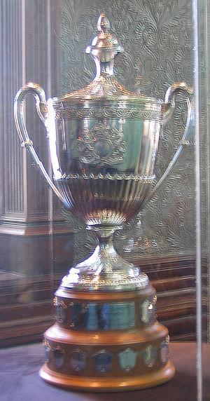 King Clancy Memorial Trophy - Image: Hhof clancy