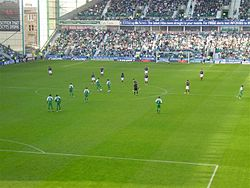 Falkirk under en match mot Hibs.