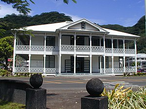 Utulei, American Samoa - The Courthouse was erected in 1904.