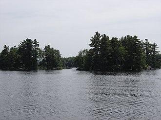 Highland Lake (Stoddard, New Hampshire) - Islands on the lake