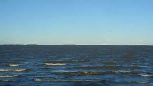 Ahelaid - Hiiumaa islet from Muhu; from right to left: Kõverlaid, Heinlaid, Ahelaid, Kõrgelaid, Vareslaid, Hanerahu, Hanikatsi laid, Saarnaki laid, Moonsund