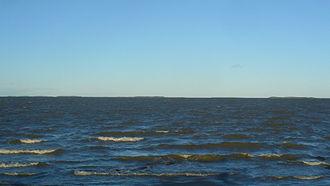 Ahelaid - Hiiumaa islet from Muhu; from right to left: Kõverlaid, Heinlaid, Ahelaid, Kõrgelaid, Vareslaid, Hanerahu, Hanikatsi laid, Saarnaki laid, Moonsund