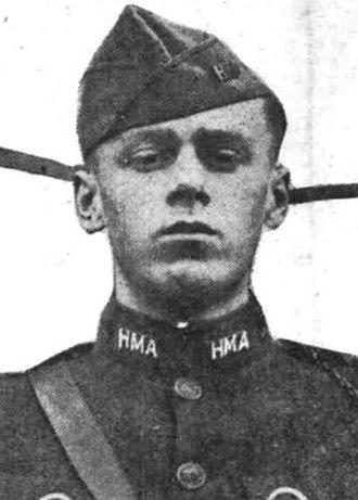 Hill Military Academy - Hill Military Academy cadet Lee Strickland in 1921
