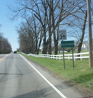 Hills and Dales, Ohio - Entering the village