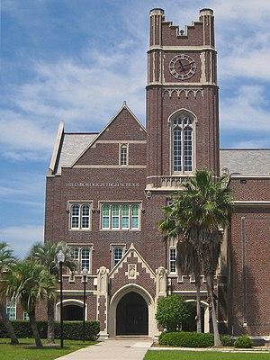 Hillsborough High School (Tampa, Florida) - Main entrance and clock tower.