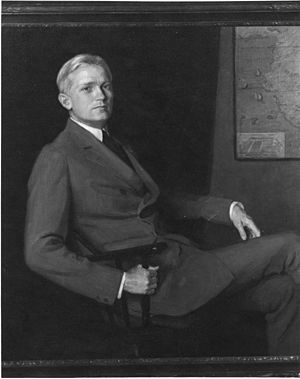 Hiram Bingham III - Hiram Bingham painted by Mary Foote, sister of Harry Ward Foote, the Yale chemistry professor who was Bingham's companion on his trips to Peru