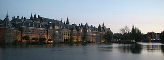 The Hague - The Hofvijver and the buildings housing the States General of the Netherlands
