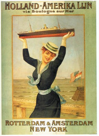 Holland America Line - Poster for Holland-Amerika Lijn, 1898