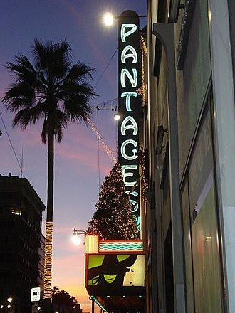 Pantages Theatre (Hollywood) - Pantages Theatre during the 2007-2009 run of Wicked