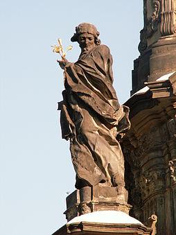 Socha sv. Jana Sarkandra na Sloupu Nejsvětější Trojice