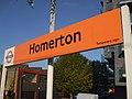 Homerton station signage.JPG