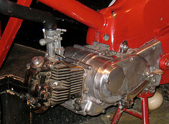 Motorcycle engine - A Honda Super Cub engine. The most popular motorcycle in history, with over 100 million produced.