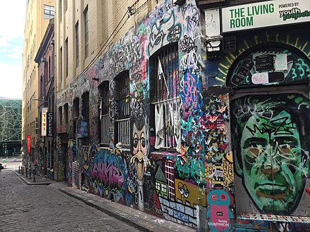 Hosier Laneストリートアート、メルボルン