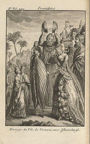 Nicolas-Edme Rétif - Frontispiece from La Découverte Australe par un Homme Volant, 1781
